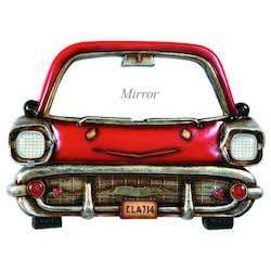Pub Sign-Red Car With Mirror