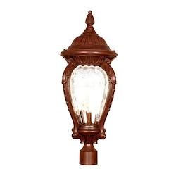 Acclaim Lighting Four Light Burled Walnut Post Light