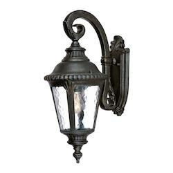 Acclaim Lighting One Light Black Gold Wall Lantern