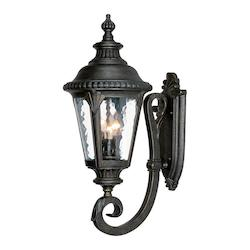 Acclaim Lighting Three Light Black Gold Wall Lantern