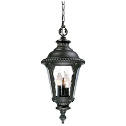 Acclaim Lighting Three Light Black Gold Hanging Lantern