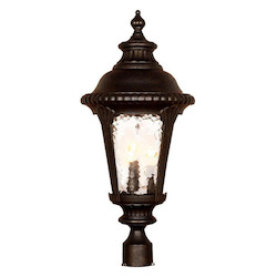Acclaim Lighting Three Light Black Gold Post Light