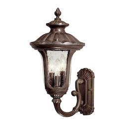 Acclaim Lighting Three Light Burled Walnut Wall Lantern