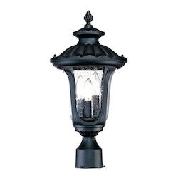 Acclaim Lighting Three Light Matte Black Post Light