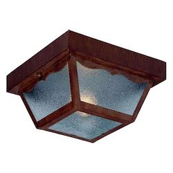 Acclaim Lighting One Light Burled Walnut Outdoor Flush Mount