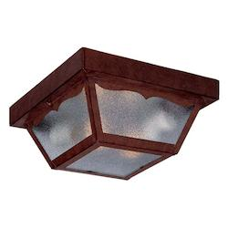 Acclaim Lighting Two Light Burled Walnut Outdoor Flush Mount