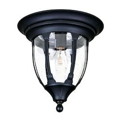 Acclaim Lighting One Light Matte Black Outdoor Flush Mount
