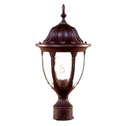 Acclaim Lighting One Light Burled Walnut Post Light