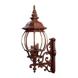 Acclaim Lighting Four Light Burled Walnut Wall Lantern