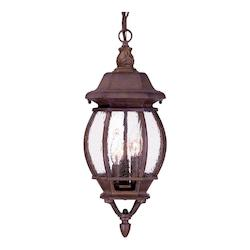 Acclaim Lighting Three Light Burled Walnut Hanging Lantern