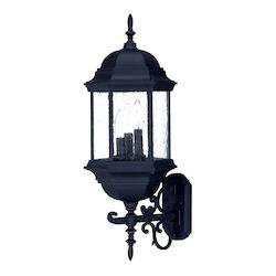 Acclaim Lighting Three Light Matte Black Wall Lantern