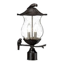 Acclaim Lighting Avian Collection Post-Mount 2-Light Outdoor Black Coral Light Fixture