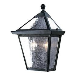 Acclaim Lighting Two Light Matte Black Wall Lantern