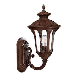 Acclaim Lighting One Light Burled Walnut Wall Lantern