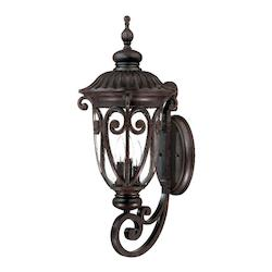 Acclaim Lighting Three Light Marbleized Mahogany Wall Lantern
