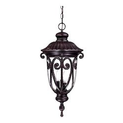 Acclaim Lighting Three Light Marbleized Mahogany Hanging Lantern