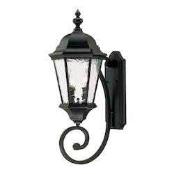Acclaim Lighting Open Box Two Light Matte Black Wall Lantern