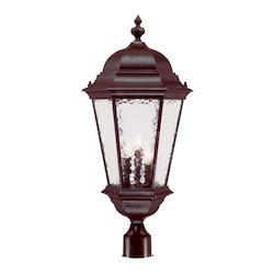 Acclaim Lighting Three Light Marbleized Mahogany Post Light