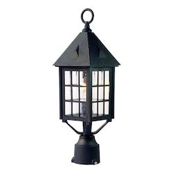 Acclaim Lighting One Light Matte Black Post Light