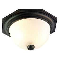 Acclaim Lighting Two Light Matte Black Outdoor Flush Mount