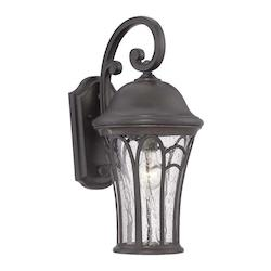 Acclaim Lighting Highgate Collection Wall Lantern 1-Light Outdoor Black Coral Light Fixture