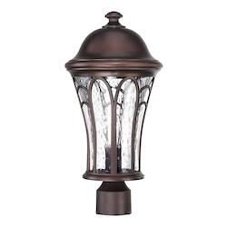 Acclaim Lighting Highgate Collection Post Lantern 1-Light Outdoor Architectural Bronze Light Fixt