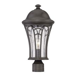 Acclaim Lighting Highgate Collection Post Lantern 1-Light Outdoor Black Coral Light Fixture