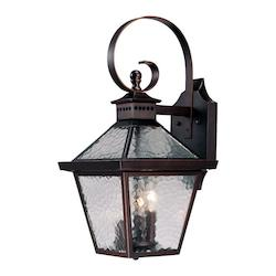 Acclaim Lighting Three Light Architectural Bronze Wall Lantern