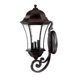 Acclaim Lighting Three Light Black Coral Wall Lantern