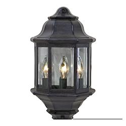 Acclaim Lighting Three Light Black Coral Post Light