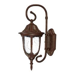 Acclaim Lighting Suffolk Collection Wall-Mount 1-Light Outdoor Matte Black Light Fixture