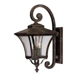 Acclaim Lighting Tuscan Collection Wall-Mount 3-Light Outdoor Black Coral Light Fixture