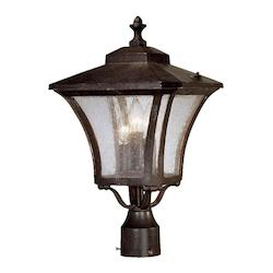Acclaim Lighting Tuscan Collection Post-Mount 3-Light Outdoor Black Coral Light Fixture