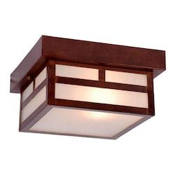 Acclaim Lighting One Light Architectural Bronze Outdoor Flush Mount