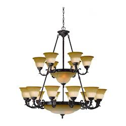 Crystorama Venetian Bronze Twenty-Four Light Chandelier from the Oxford Collection