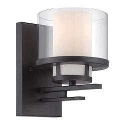 Designers Fountain Biscayne Bronze Fusion 1 Light Bathroom Sconce