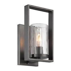 Designers Fountain Open Box Charcoal Elements 1 Light Bathroom Sconce