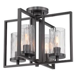 Designers Fountain Charcoal Elements 4 Light Semi-Flush Ceiling Fixture