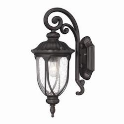 Acclaim Lighting 1 Light Wall Lantern In Black Coral Finish