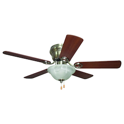 Craftmade 1 Light Indoor Hugger Ceiling Fan With Brushed Nickel Finish