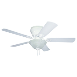 Craftmade 1 Light Hugger Ceiling Fan With White Finish