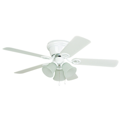 Craftmade 3 Light Indoor Hugger Ceiling Fan With White Finish