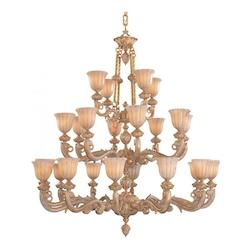 Crystorama Bronze Natural Alabaster 24 Light Triple Tier Adjustable Chandelier