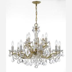 Crystorama Gold Maria Theresa 12 Light 2 Tier Chandelier