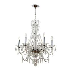 Crystorama Polished Chrome Barrymore 6 Light Single Tier Chandelier