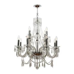 Crystorama Polished Chrome Barrymore 12 Light 2 Tier Chandelier
