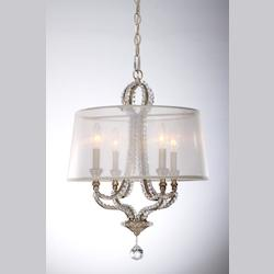 Crystorama Distressed Twilight Garland 4 Light Single Tier Chandelier