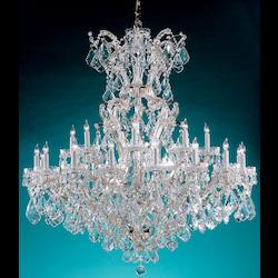 Crystorama Gold / Hand Cut Crystal Maria Theresa 25 Light Two Tier Adjustable Chandelier
