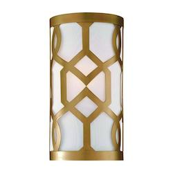Crystorama Aged Brass Jennings 1 Light Wall Sconce