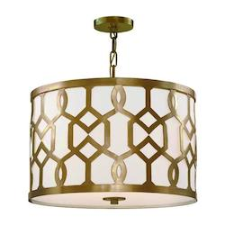 Crystorama Libby Langdon For Jennings 3 Light Aged Brass Pendant